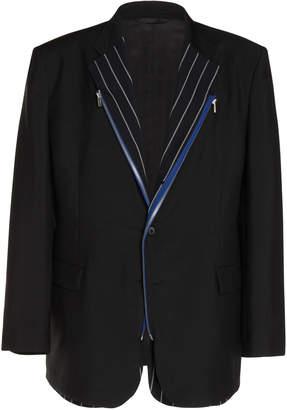 Maison Margiela Zip-Trimmed Mohair and Wool-Blend Blazer