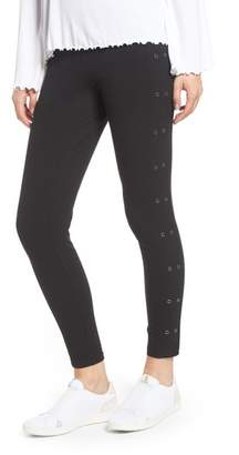 Yummie by Heather Thomson Compact Cotton Grommet Ankle Leggings