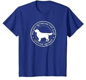 Golden Retriever Tshirt - Dog Fan Club Lifetime Member