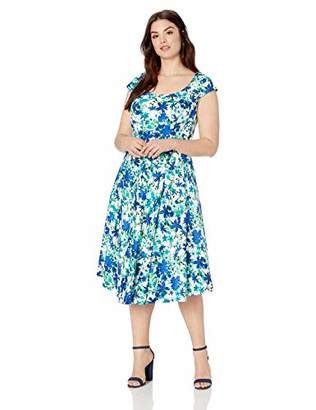 Calvin Klein Women's Plus Size Cap Sleeve Hi Low Dress