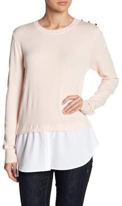 Love Token Extended Hem Long Sleeve Sweater