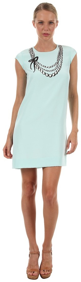 Kate Spade Karine Dress (Sea Glass Pearl Trompe Loeil) - Apparel