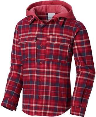 Columbia Boulder Ridge Flannel Long-Sleeve Hooded Shirt - Girls'