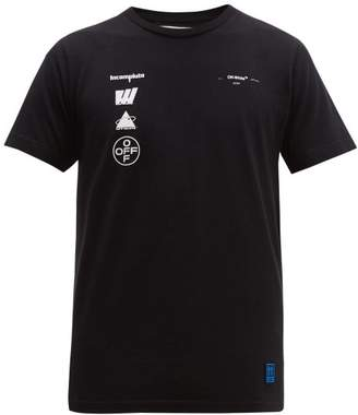 Off-White Off White Incompiuto Cotton Jersey T Shirt - Mens - Black Multi
