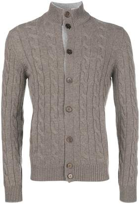Barba cashmere cable cardigan