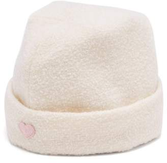 Federica Moretti Stitched Heart Wool Military Cap - Womens - White