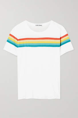Elizabeth and James Lakota Striped Cotton-jersey T-shirt - White