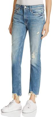 MOTHER Flirt Fray Rigid Jeans in Cold Feet $265 thestylecure.com