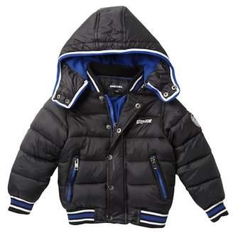 Diesel Bubble Fleece Lined Jacket (Toddler Boys)