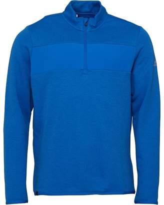 adidas Mens Golf Club Performance 1/4 Zip Sweat Blast Blue Melange