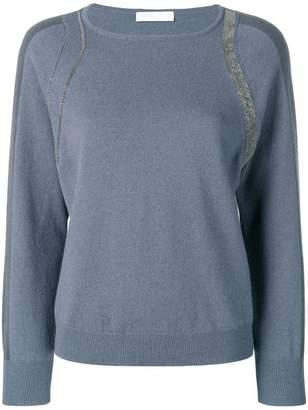 Fabiana Filippi metallic detailed jumper
