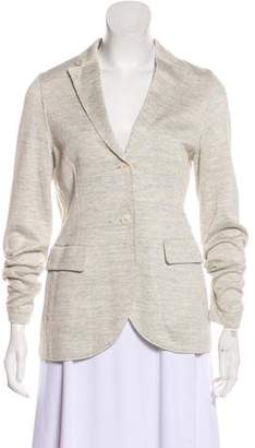 Harris Wharf London Linen Notch-Lapel Blazer