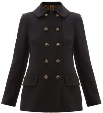 Dolce & Gabbana Double Breasted Pea Coat - Womens - Black