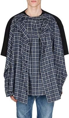 Balenciaga Men's Cotton Oversized Combo T-Shirt
