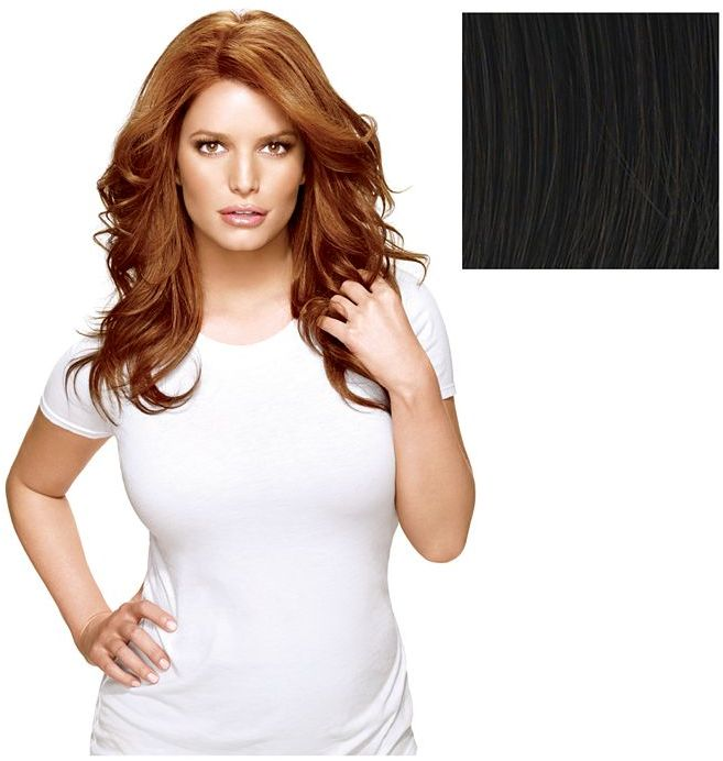 Hairdo. Long & Lush Styleable Wig from Jessica Simpson and Ken Paves, Ebony 1 ea