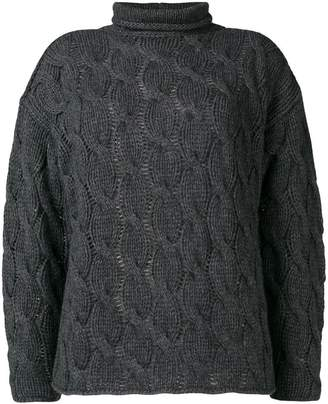 Lamberto Losani stand-up collar jumper