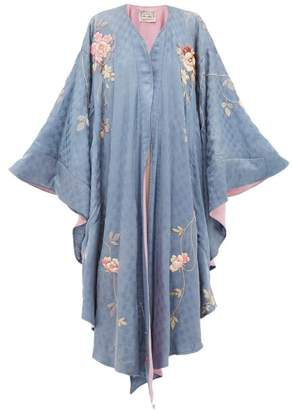 By Walid Conchita 19th Century Embroidered Silk Shawl - Womens - Blue