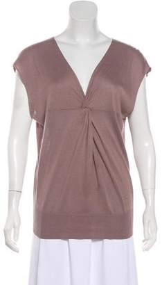 Joseph Short Sleeve Silk Top