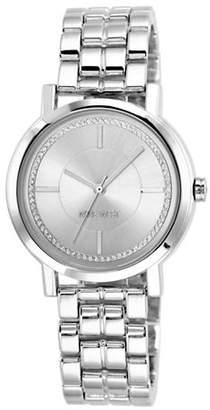 Nine West NW-1643SVSB Analog Stainless Steel Bracelet Watch