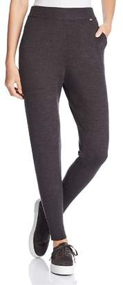 Donna Karan Sweater-Knit Jogger Leggings
