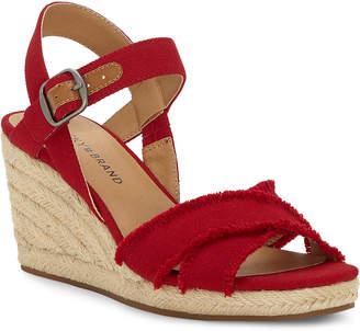 Lucky Brand Red Margaline Wedge Espadrille Sandals