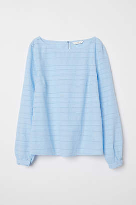 H&M Embroidered Blouse - Blue