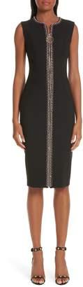Versace Crystal Embellished Zip Front Dress