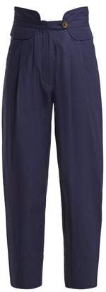 Sea Cruise Cotton Blend Trousers - Womens - Navy