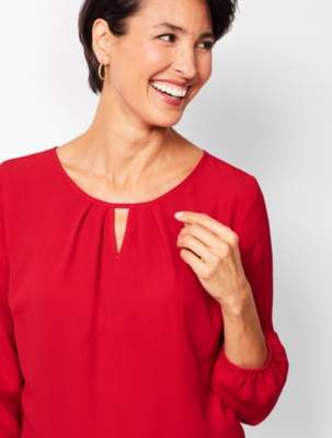 Talbots Front-Pleat Keyhole Popover