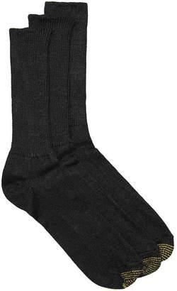 Gold Toe Acrylic Fluffie Dress Socks - 3 Pack - Men's