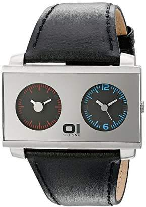01 The One 01TheOne Unisex AN05MIR02S1 AN05 Dual Time Watch