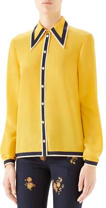 Gucci Silk Button-Front Shirt