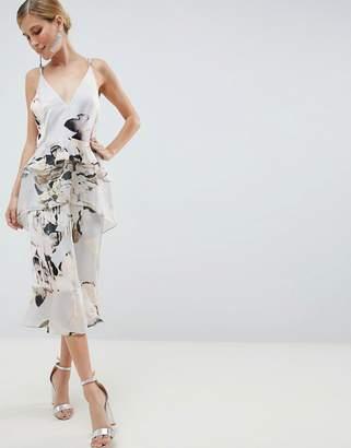 Asos DESIGN floaty cami midi dress in blurred floral print