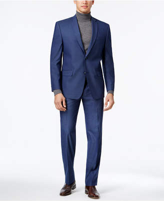 Andrew Marc Men's Classic-Fit Blue Neat Suit
