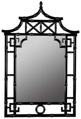 One Kings Lane Chinoiserie Wall Mirror - Black