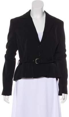 Galliano Pleated Lightweight Blazer