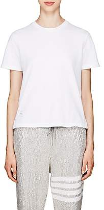 Thom Browne Women's Piqué Cotton T-Shirt - White