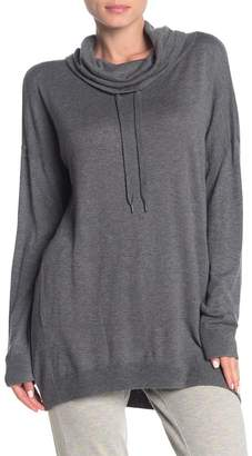 Splendid Cowl Neck Tunic Sweatshirt