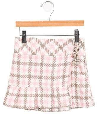 Florence Eiseman Girls' Tweed Houndstooth Skirt