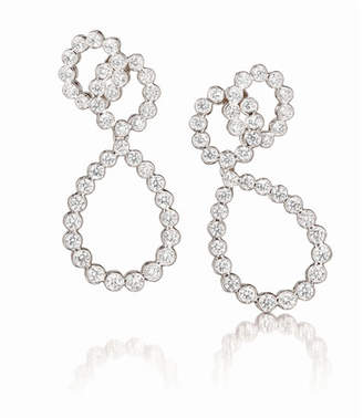 Verdura Looped Diamond Clip Earrings