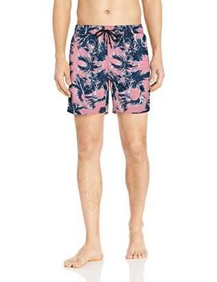 8cb4d12ab1 Perry Ellis Men's Printed Water Resistant Swim Shorts