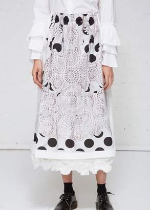 Comme des Garcons Polka Dot Lace Skirt
