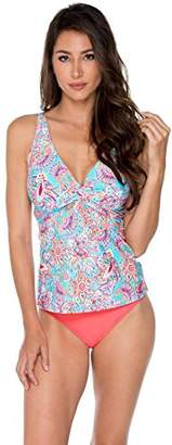 Sunsets Women's Forever Bra Sized Tankini Top Swimsuit with Hidden Underwire