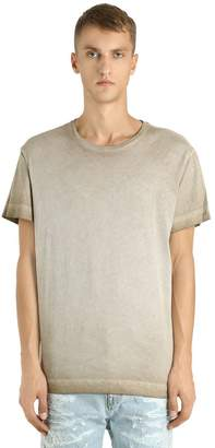 Diesel Black Gold Faded Cotton Jersey T-Shirt
