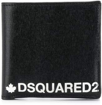 DSQUARED2 Logo Embroidery Leather Wallet