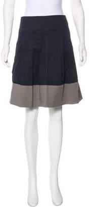 Vince Colorblock Knee-Length Skirt