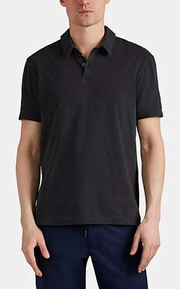 James Perse Men's Sueded Cotton Jersey Short-Sleeve Polo Shirt - Dark Gray