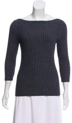 Michael Kors Rib-Knit Three-Quarter Sleeve Sweater