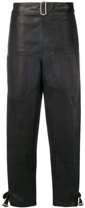 J.W.Anderson women's fold-front utility leather trousers