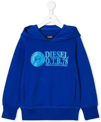 Diesel logo print hoody
